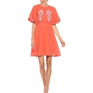 NANETTE LEPORE CALYPSO RED DRESS ~ 6 ~ EMBROIDERY